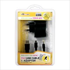 2in 1 USBケーブル&アダプター